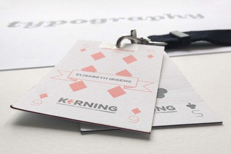 Kerning conference badges