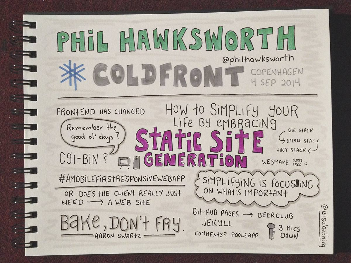 Coldfront 2014 // Phil Hawksworth